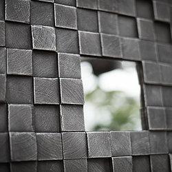 3D панель для отделки интерьера. Стеновые панели изготовлены из массива сосны, покрыты фирменным и экологически чистым составом на основе натуральных масел и дополнены зеркальными элементами. Подходят для помещений с высоким уровнем требований к экологичности.