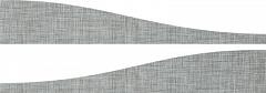 Бордюр Grey Listone Wave Mix 2 / Комплект из 2 плиток