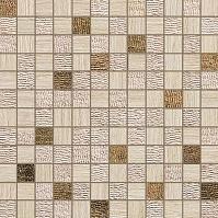 Travertino Almond Mosaico Gold