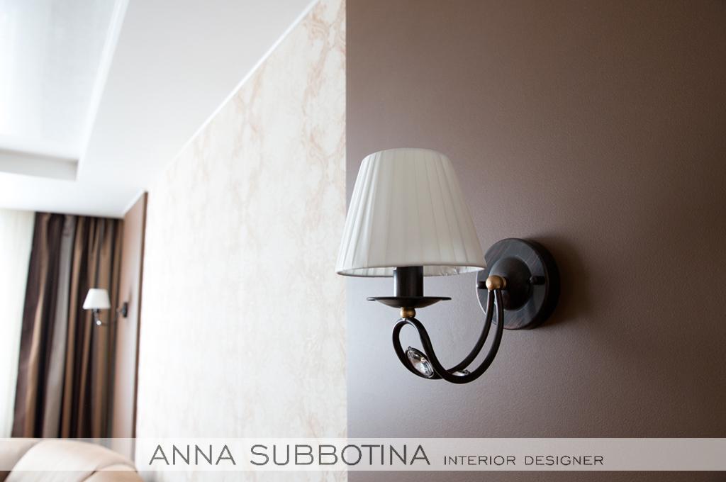 дизайн гостиной свет