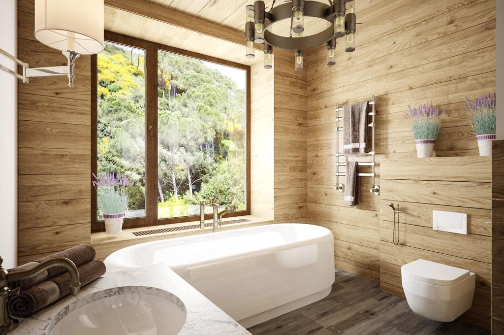 ванная в экостиле