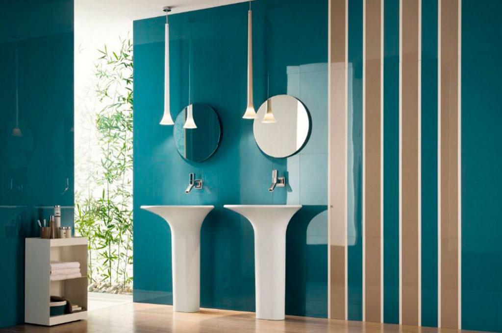 геометрическое оформление ванной комнаты