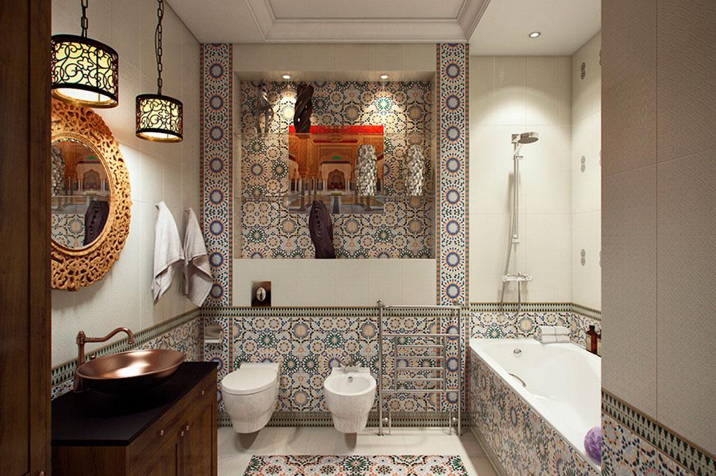 этностиль ванной комнаты