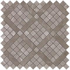Grey Fleury Diagonal Mosaic