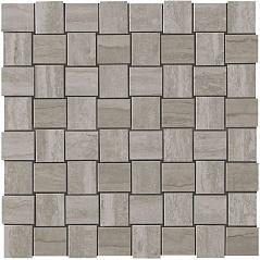 Grey Fleury Net Mosaic
