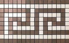 Мозаичный бордюр Bronze/Champagne Greca Mosaico