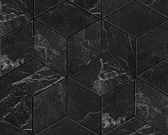 Noir St. Laurent Mosaico Esagono Lappato Полуполированная