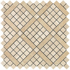 Travertino Alabastrino Diagonal Mosaic