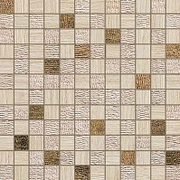 Travertino Almond Mosaico Gold