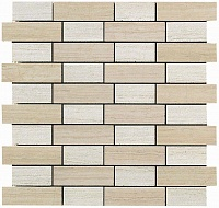 Travertino Almond + White Mosaico Fabric