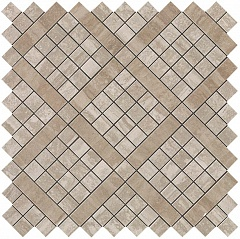 Travertino Silver Diagonal Mosaic