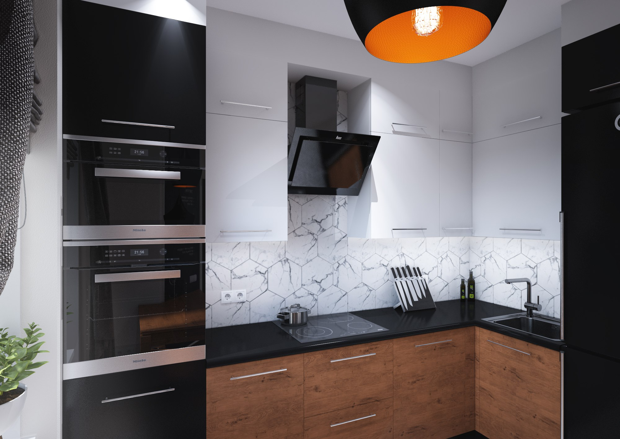 Дизайн-проект интерьера однокомнатной квартиры г. Одинцово