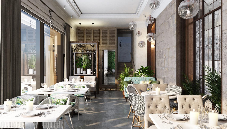 Дизайн ресторана 340 кв.м, город Москва, улица Хамовнический Вал